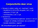conjunctivitis door virus