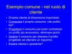 esempio comune nel ruolo di cliente