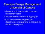 esempio energy management universit di genova