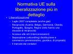 normativa ue sulla liberalizzazione pi in dettaglio