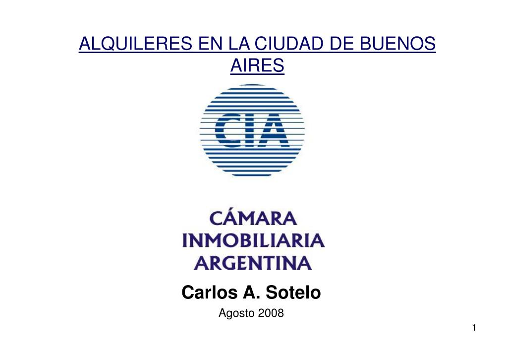 ALQUILERES EN LA CIUDAD DE BUENOS AIRES