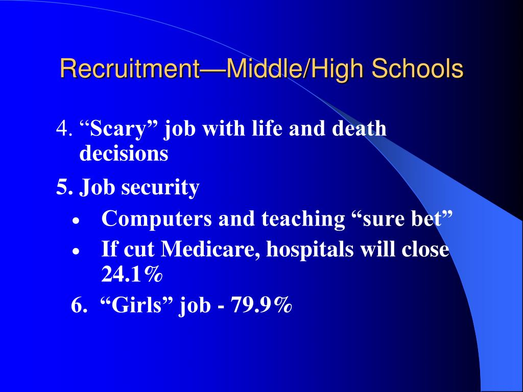 Recruitment—Middle/High Schools