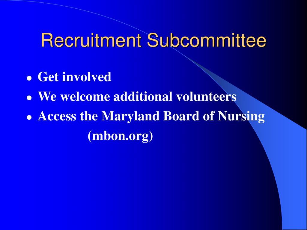 Recruitment Subcommittee