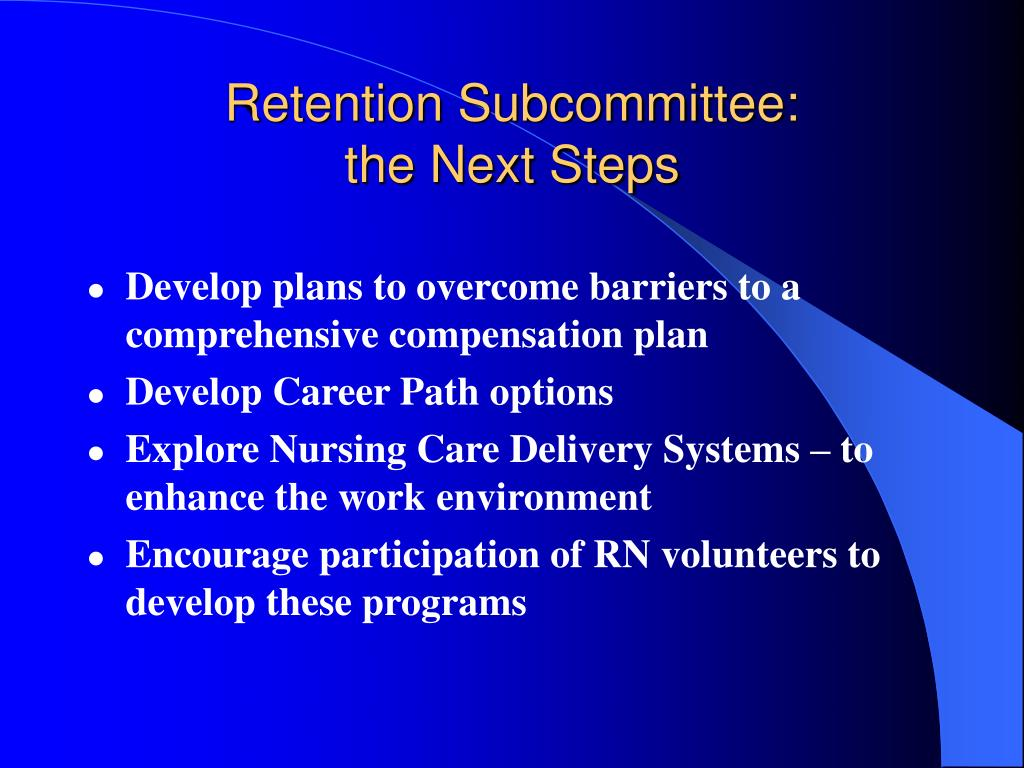 Retention Subcommittee: