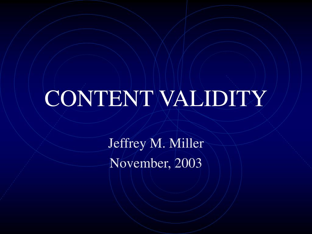content validity l.