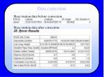 data correction