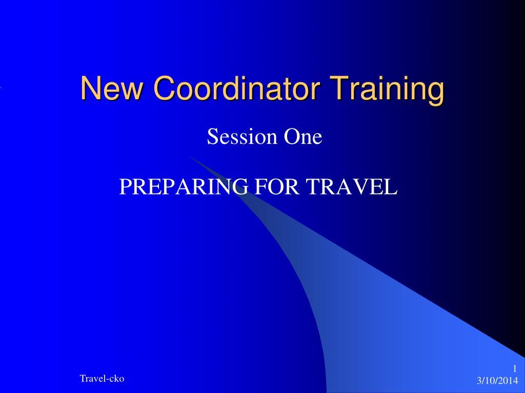 new coordinator training l.