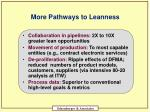 more pathways to leanness