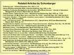 related articles by schonberger
