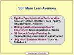 still more lean avenues