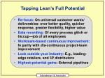 tapping lean s full potential
