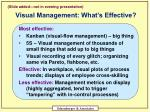 visual management what s effective
