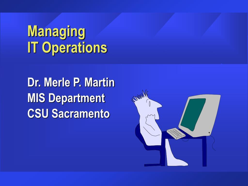 managing it operations l.