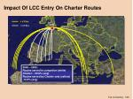 impact of lcc entry on charter routes