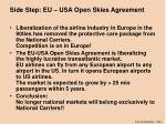 side step eu usa open skies agreement