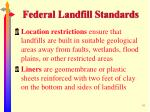 federal landfill standards