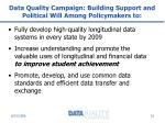 data quality campaign building support and political will among policymakers to