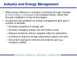 industry and energy management