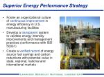 superior energy performance strategy