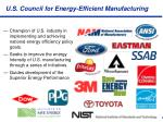u s council for energy efficient manufacturing