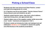 picking a school class