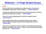 reflection 2 4 page student essays