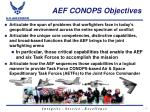 aef conops objectives