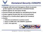 homeland security conops