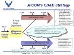 jfcom s cd e strategy