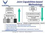 joint capabilities based methodology