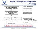 usaf concept development process