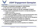 usaf engagement gameplan