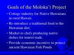 goals of the moloka i project