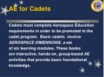 ae for cadets30