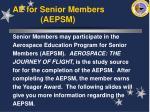 ae for senior members aepsm