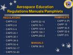 aerospace education regulations manuals pamphlets