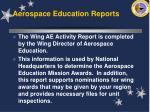 aerospace education reports58