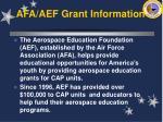 afa aef grant information