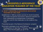 crossfield aerospace education teacher of the year