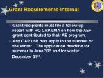 grant requirements internal