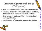 concrete operational stage 7 11 years