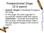 preoperational stage 2 6 years