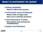 what is different in carib
