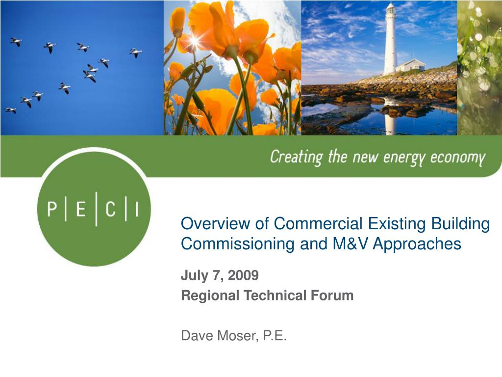 overview of commercial existing building commissioning and m v approaches l.