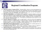 regional coordination program