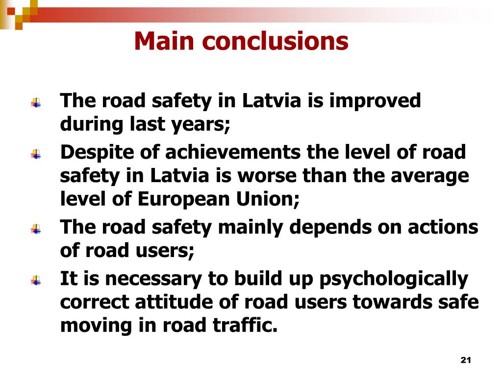 Main conclusions