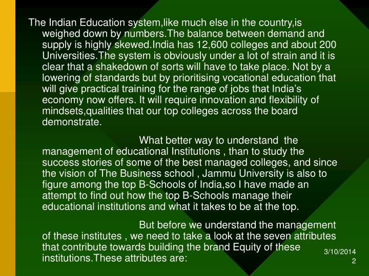 The Indian Education system,like much else in the country,is weighed down by numbers.The balance bet...