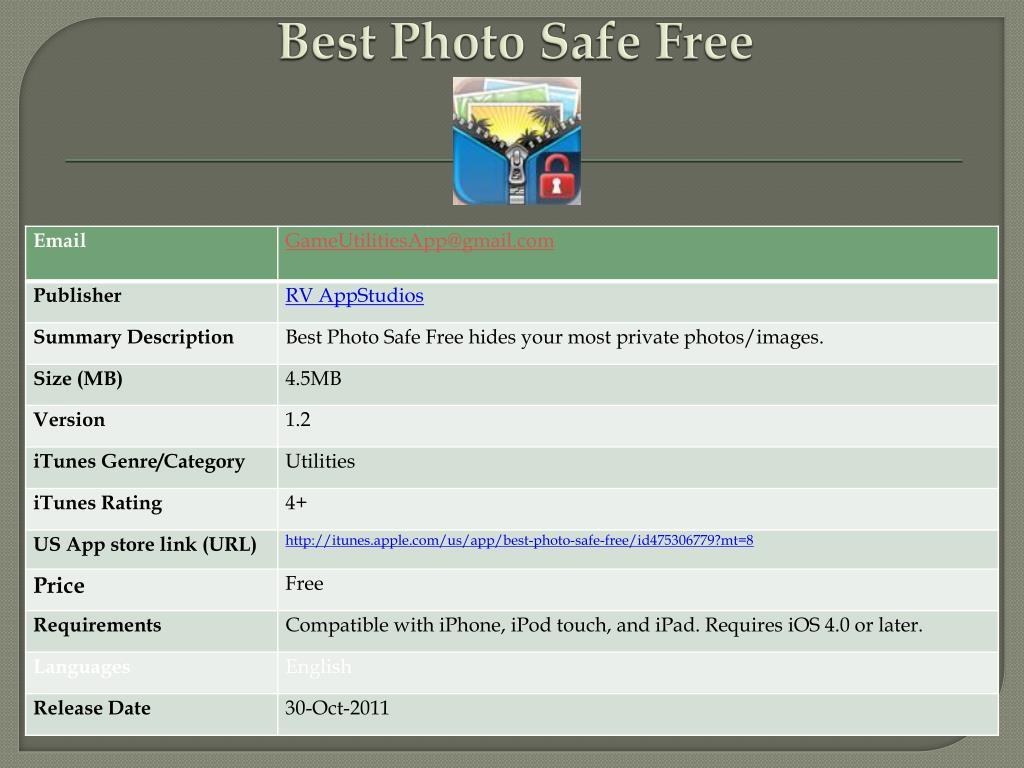 best photo safe free l.