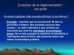 evolution de la r glementation les actifs53