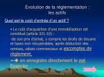 evolution de la r glementation les actifs54